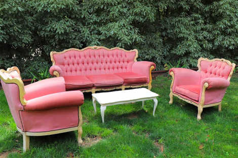 Dusty Pink Vintage Couch