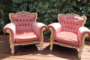 Dusty Pink Vintage Armchair