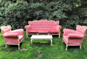 Dusty Pink Vintage Furniture 4 Piece Package