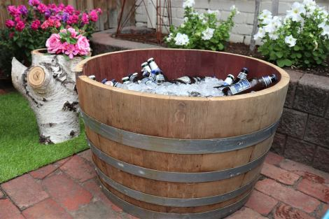 Half Wine Barrel Drinks Tub
