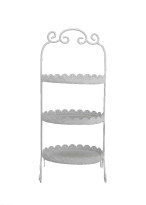 White Food Stand - Three Tier