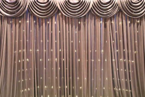 Black Curtain Backdrop w/Fairy Lights 3m