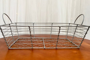 Grey Wire Basket - Rectangle