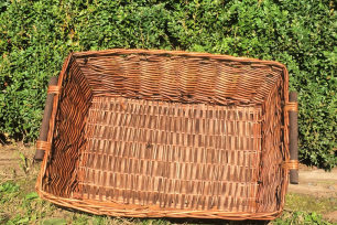 Brown Willow Tray Basket - Rectangle