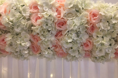 Flower Edging - Hydrangea & Rose