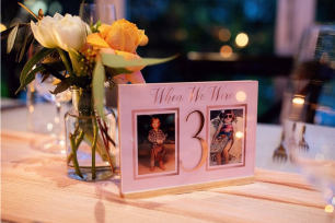 'When We Were' Personalised Table Numbers