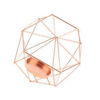 Rose Gold Geometric Candle Holder