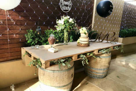 Wine Barrel & Pallet Bar