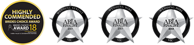 finalist badges for ABIA awards