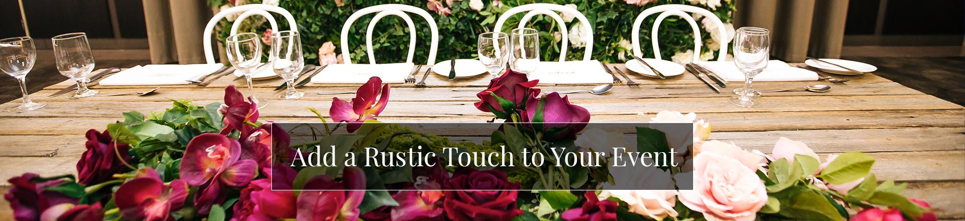 Add a Rustic Touch to Your Event